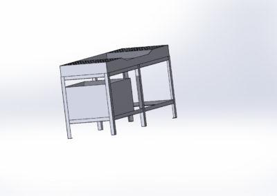 Mycí stůl - pohled 2 - kopie